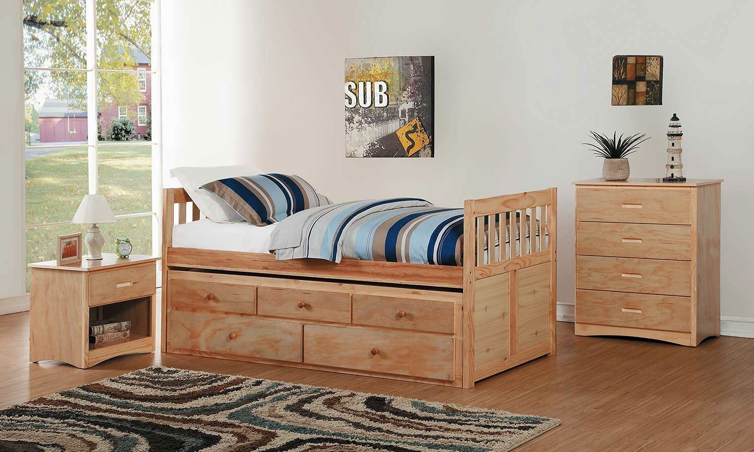 Bartly Captains Bedroom Set