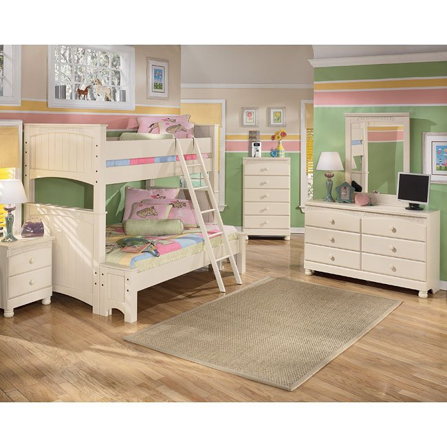 Cottage Retreat Bunk Bed Bedroom Set Signature Design Furniture Cart