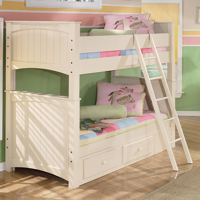 Cottage Retreat Bunk Bed Signature Design Furniture Cart
