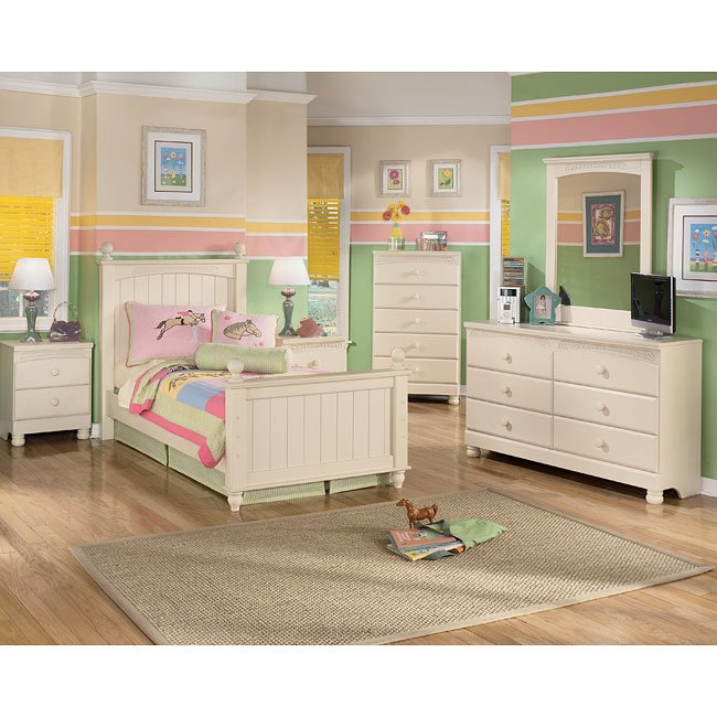 Cottage retreat youth poster bedroom set signature design furniture cart Cottage retreat collection bedroom furniture