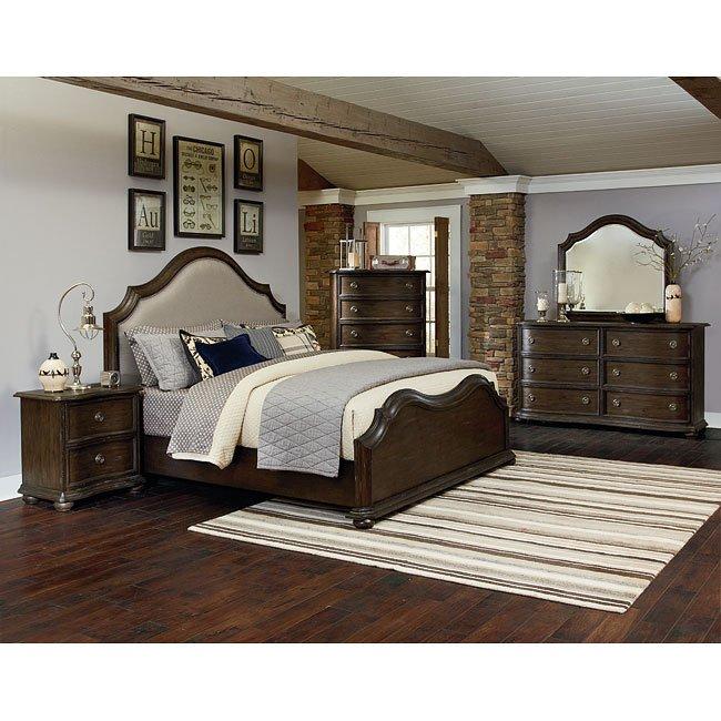 Muirfield Upholstered Headboard Bedroom Set