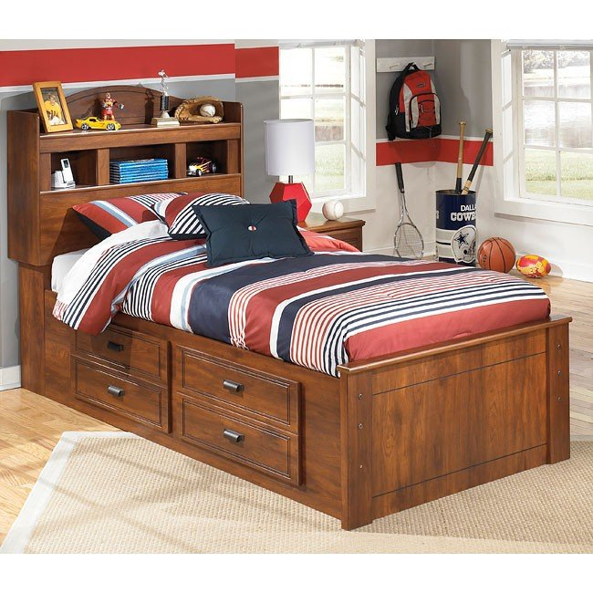 Barchan Bookcase Bed w/ Storage