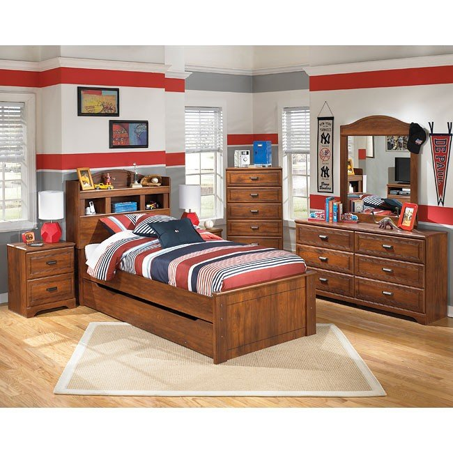 Barchan Bookcase Bedroom Set w/ Trundle