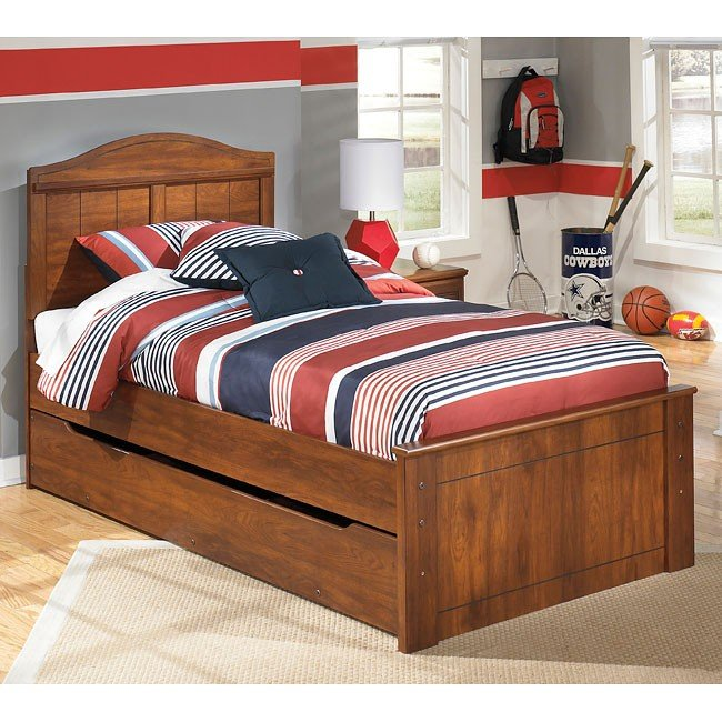 Barchan Panel Bed w/ Trundle