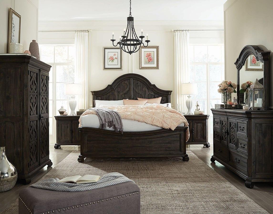 Bellamy Shaped Panel Bedroom Set Magnussen Furniture Cart