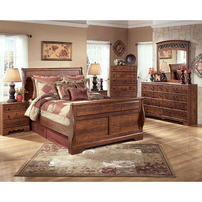 Timberline Sleigh Bedroom Set Signature Design Furniture Cart