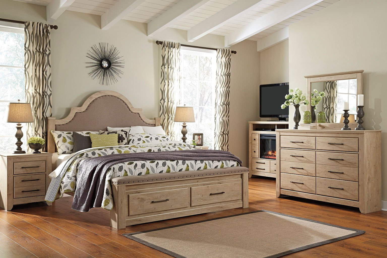 annilynn storage bedroom set signature design  furniture cart