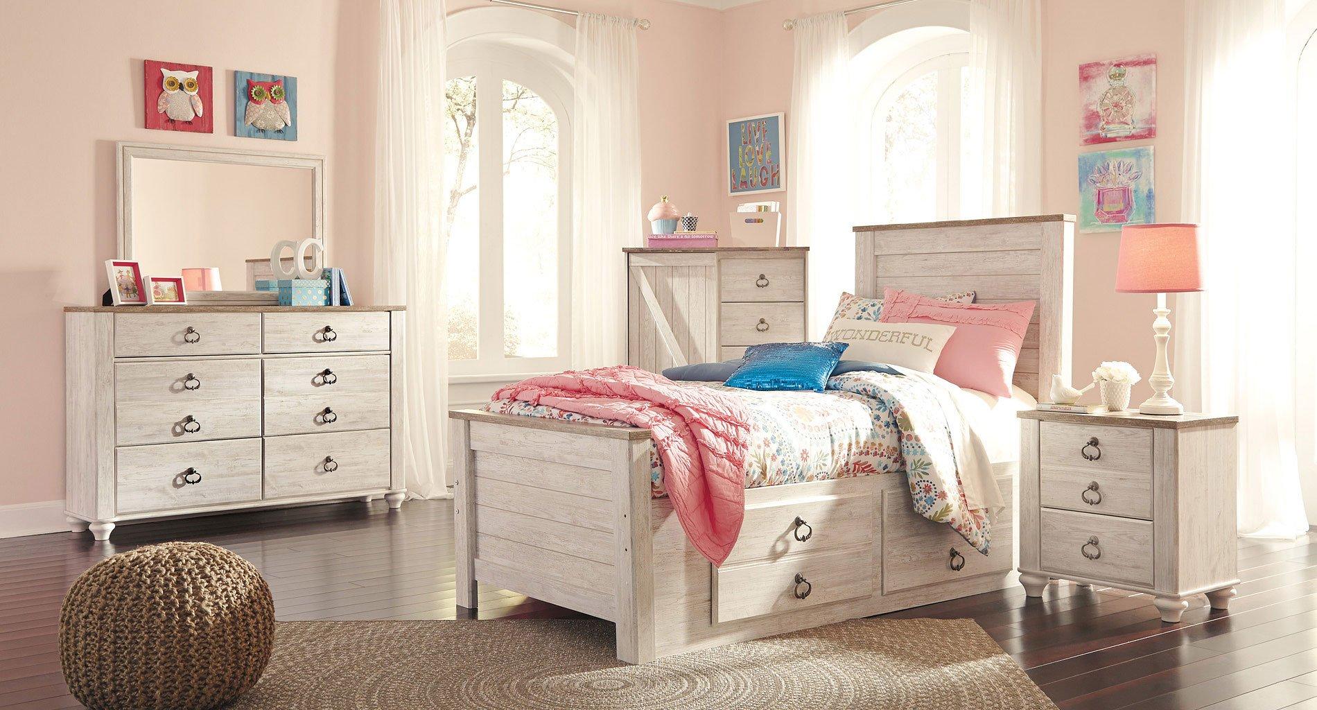 Willowton youth storage bedroom set signature design 1 - Youth bedroom furniture with storage ...