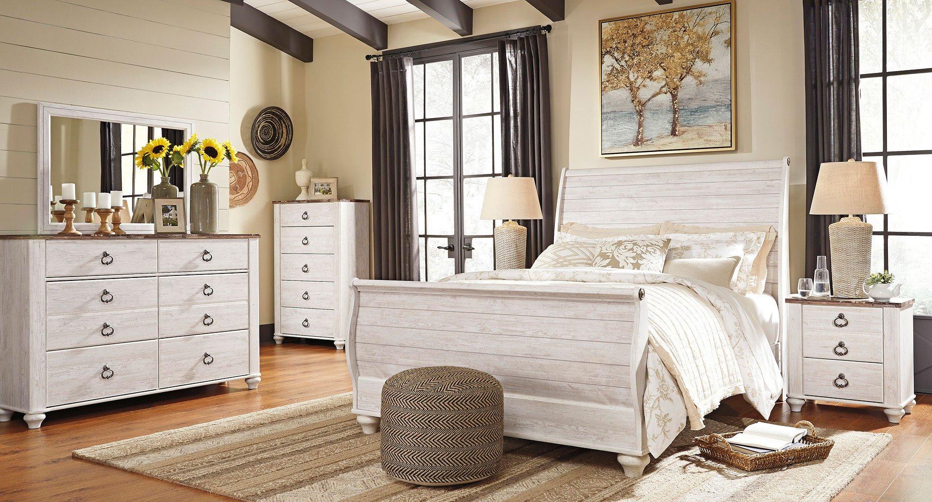 Willowton Sleigh Bedroom Set Signature Design 2 Reviews