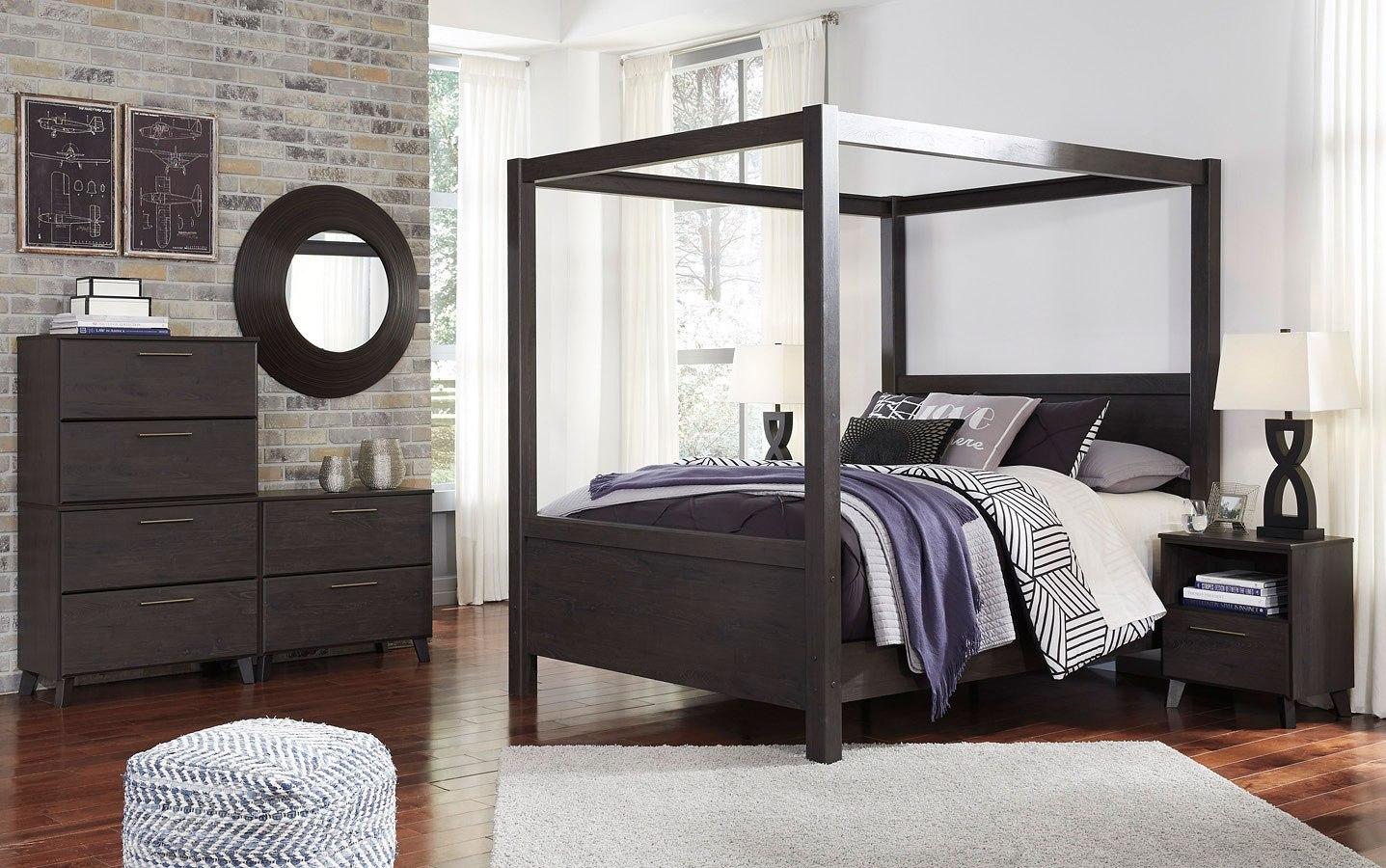 daltori canopy bedroom set - Canopy Bedroom Sets