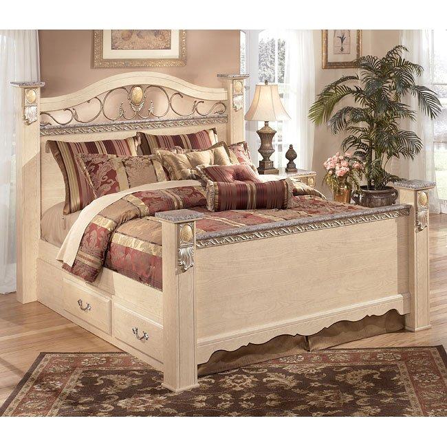 Sanibel Poster Bed Signature Design | Furniture Cart