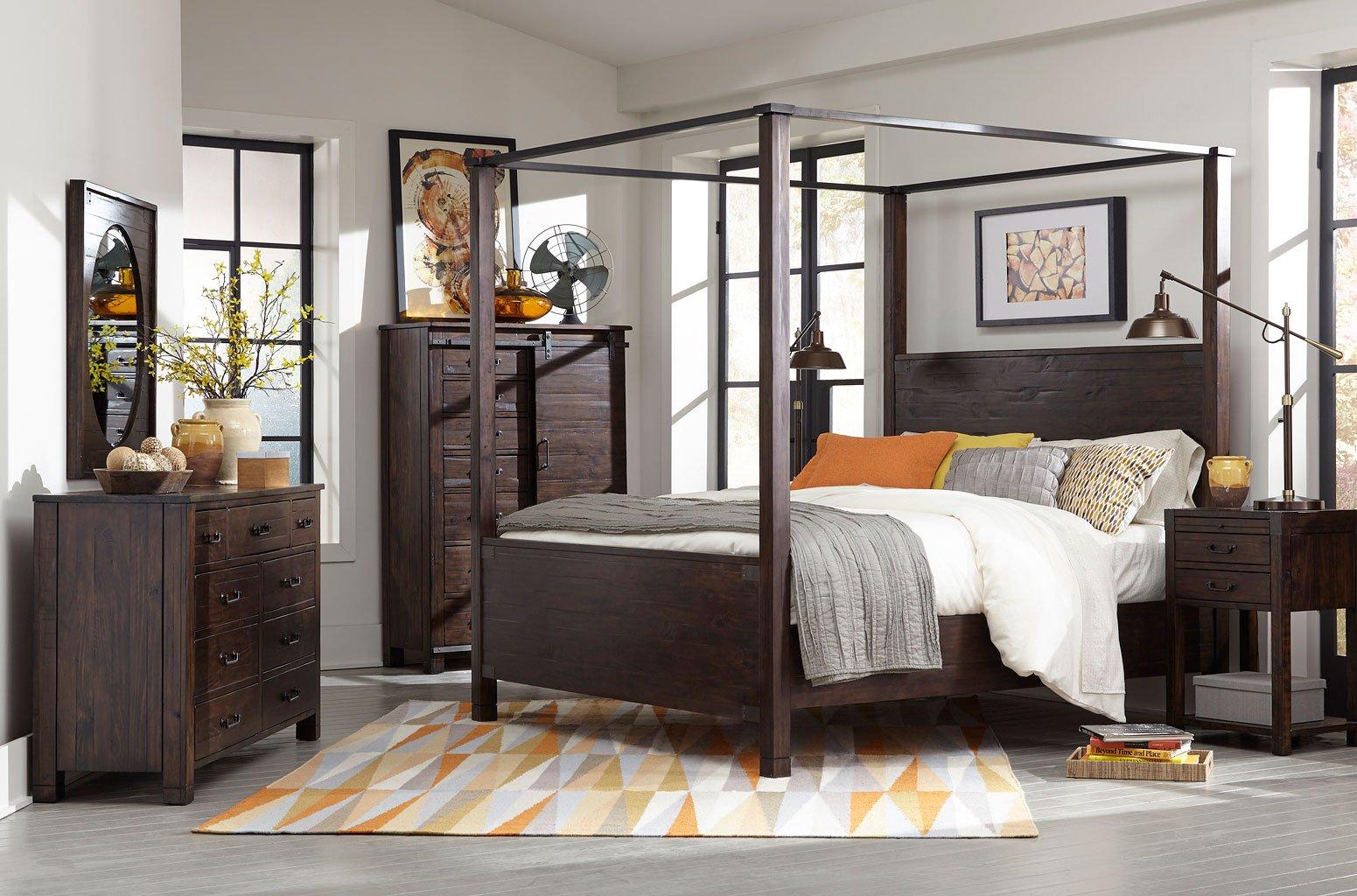 Pine Hill Canopy Bedroom Set Magnussen