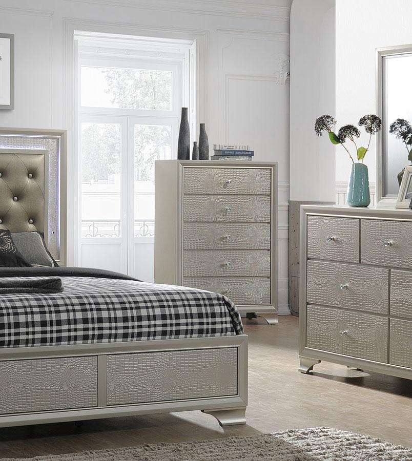 Lyssa Panel Bedroom Set Crown Mark Furniture Furniture Cart