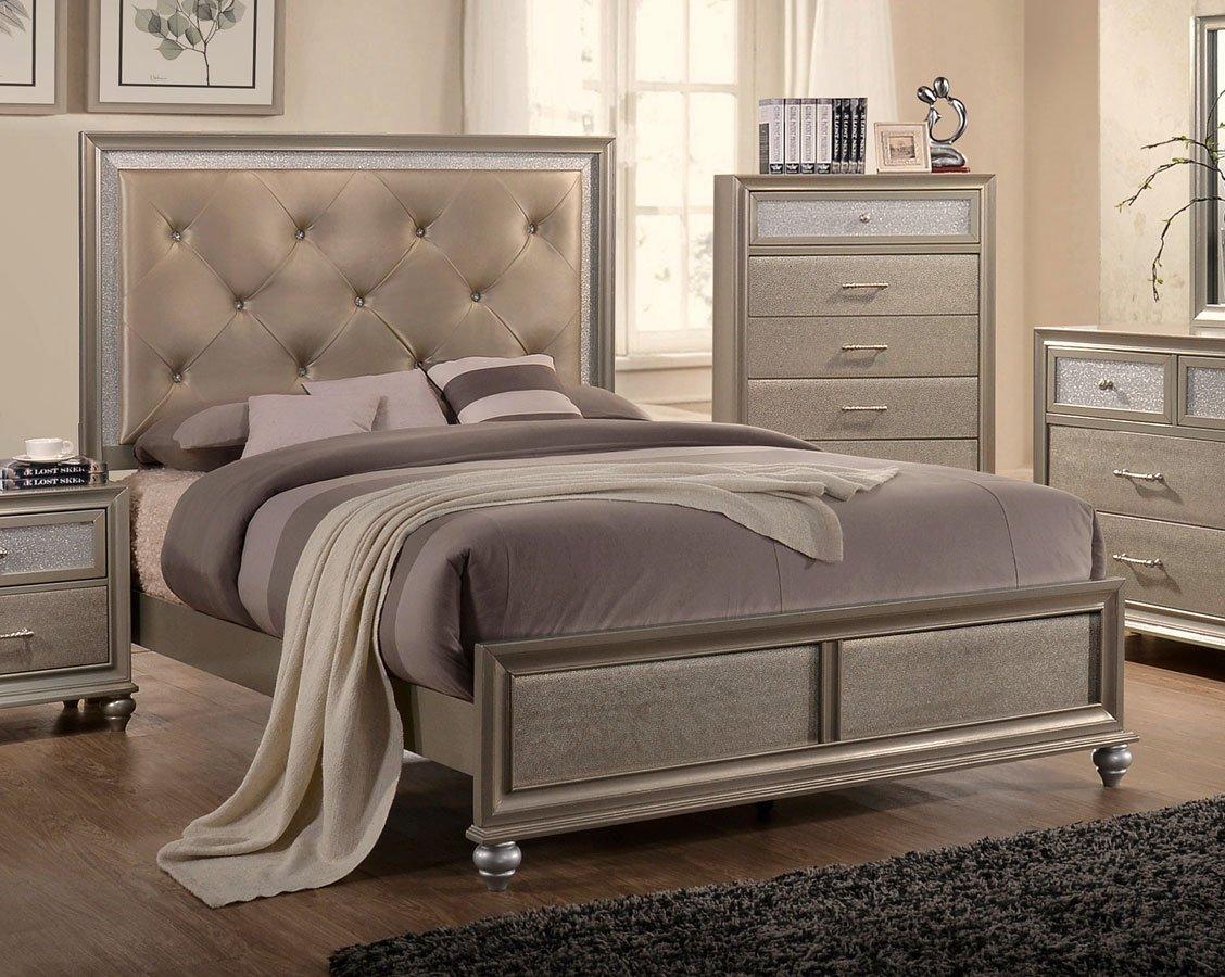 Crown Mark Farrow Queen Bedroom Group: Lila Panel Bedroom Set Crown Mark Furniture