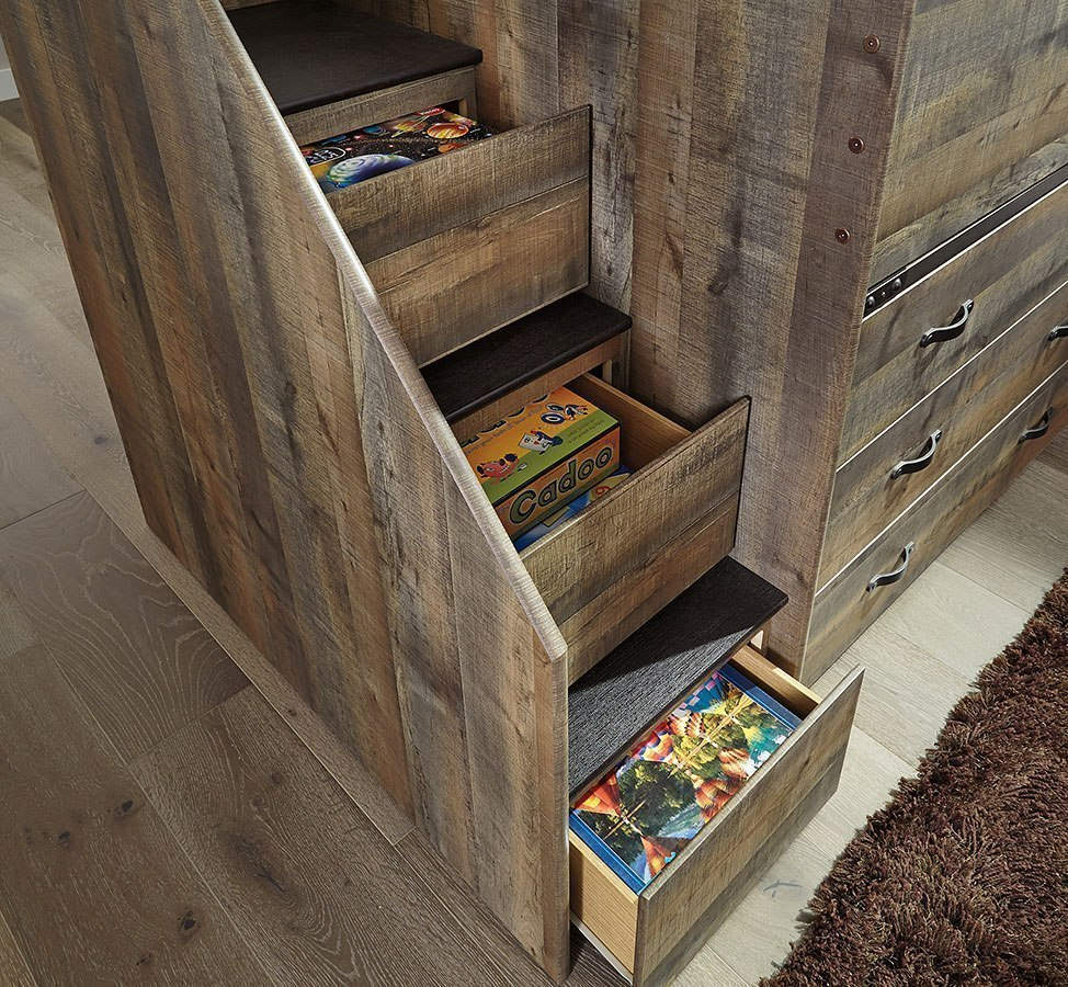Trinell Twin Loft Bedroom Set Signature Design Furniture Cart