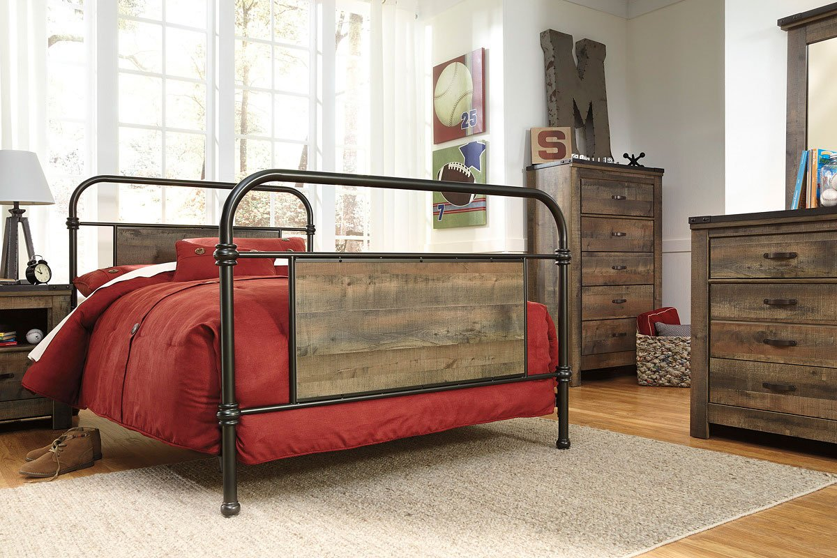 Trinell Youth Bedroom Set W Metal Bed Signature Design 2 Reviews Furniture Cart