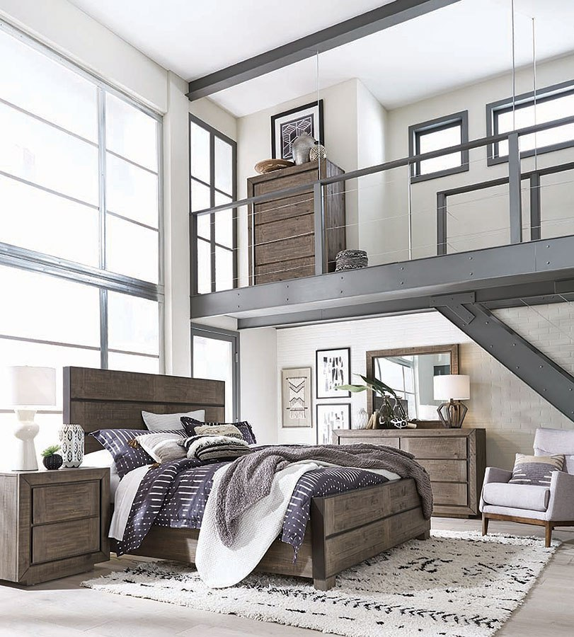 Granada Hills Metal / Wood Panel Bedroom Set