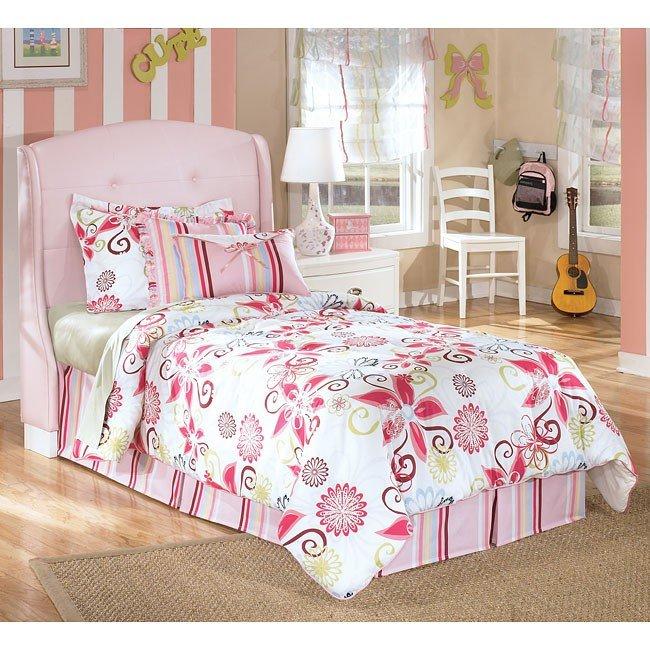 Alyn Pink Upholstered Headboard