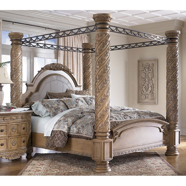 South Coast Poster Canopy Bed Millennium Furniture Cart