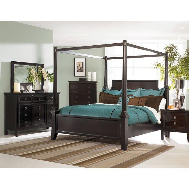 Martini Suite Canopy Bedroom Set Millennium, 1 Reviews ...