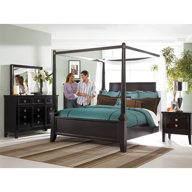 Martini Suite Canopy Bedroom Set