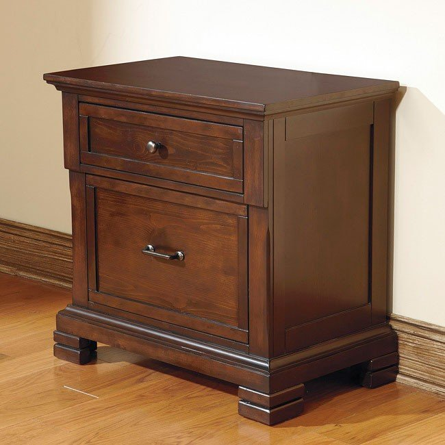 Noremac Two Drawer Nightstand