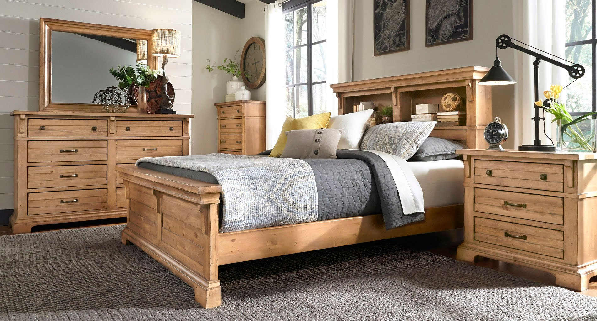 Chestnut Hill Bookcase Bedroom Set Progressive Furniture | Furniture ...