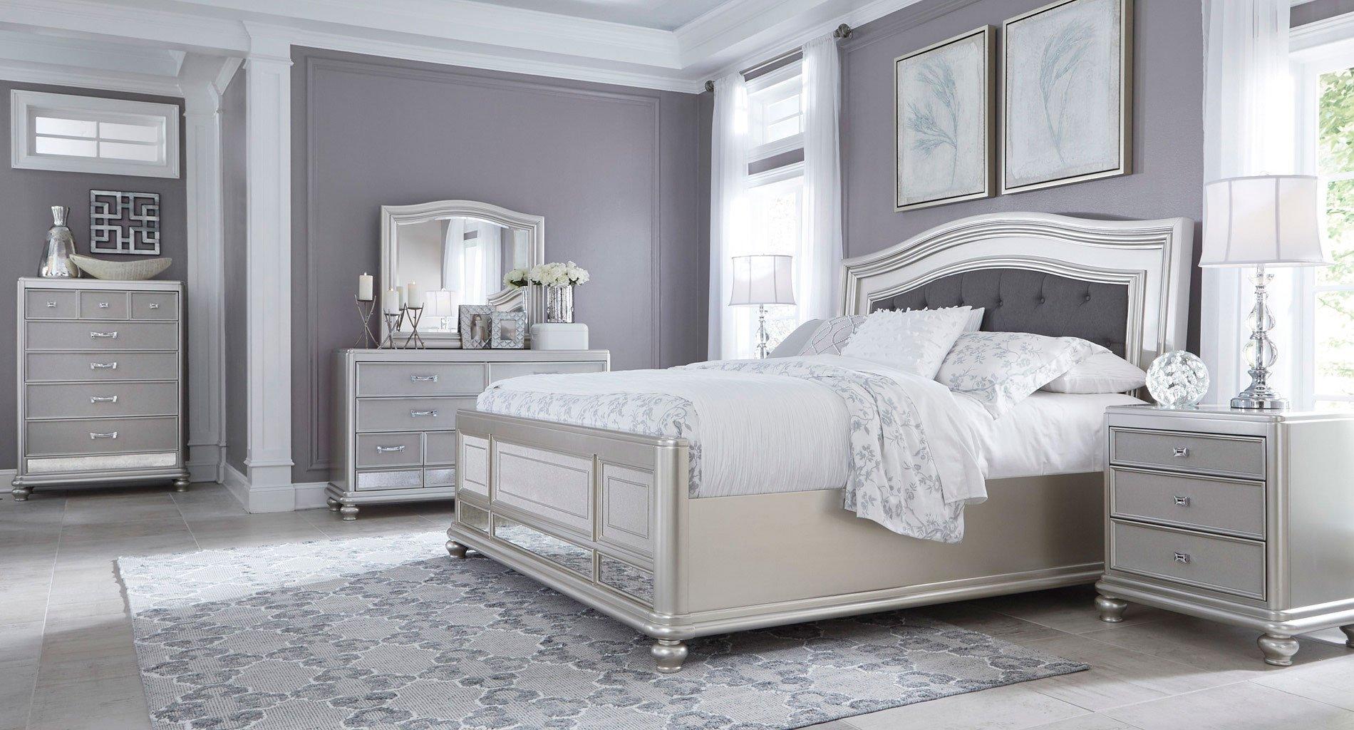 Coralayne Panel Bedroom Set
