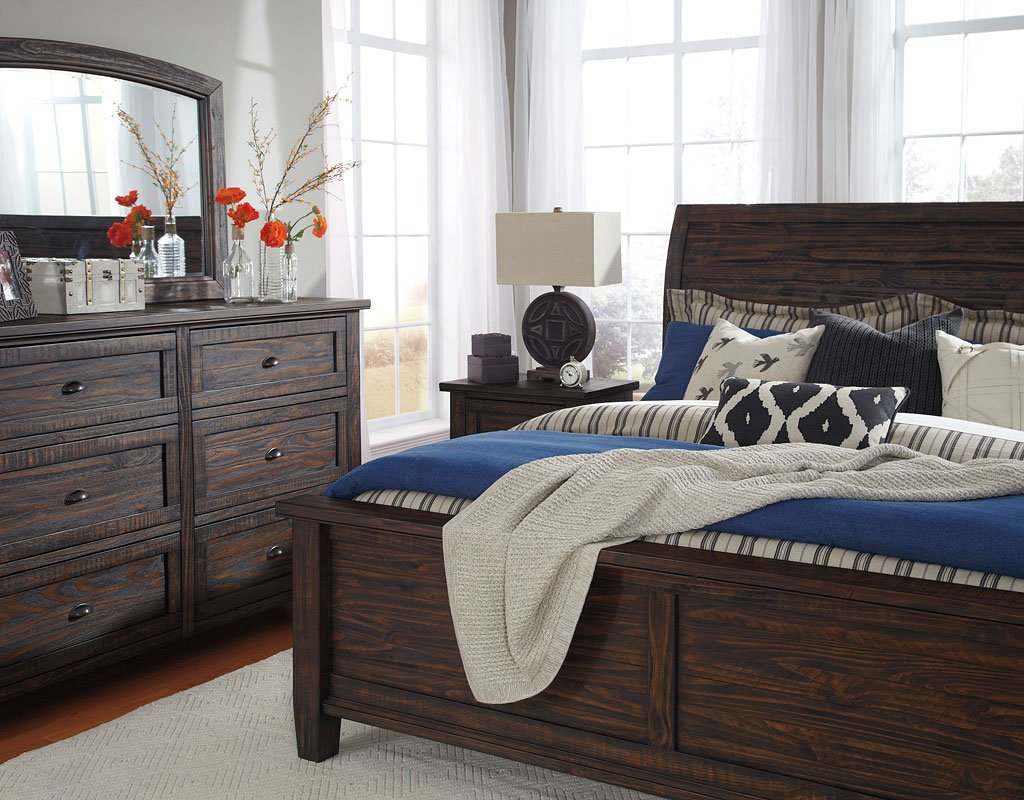 Trudell Sleigh Bedroom Set Signature Design Furniture Cart