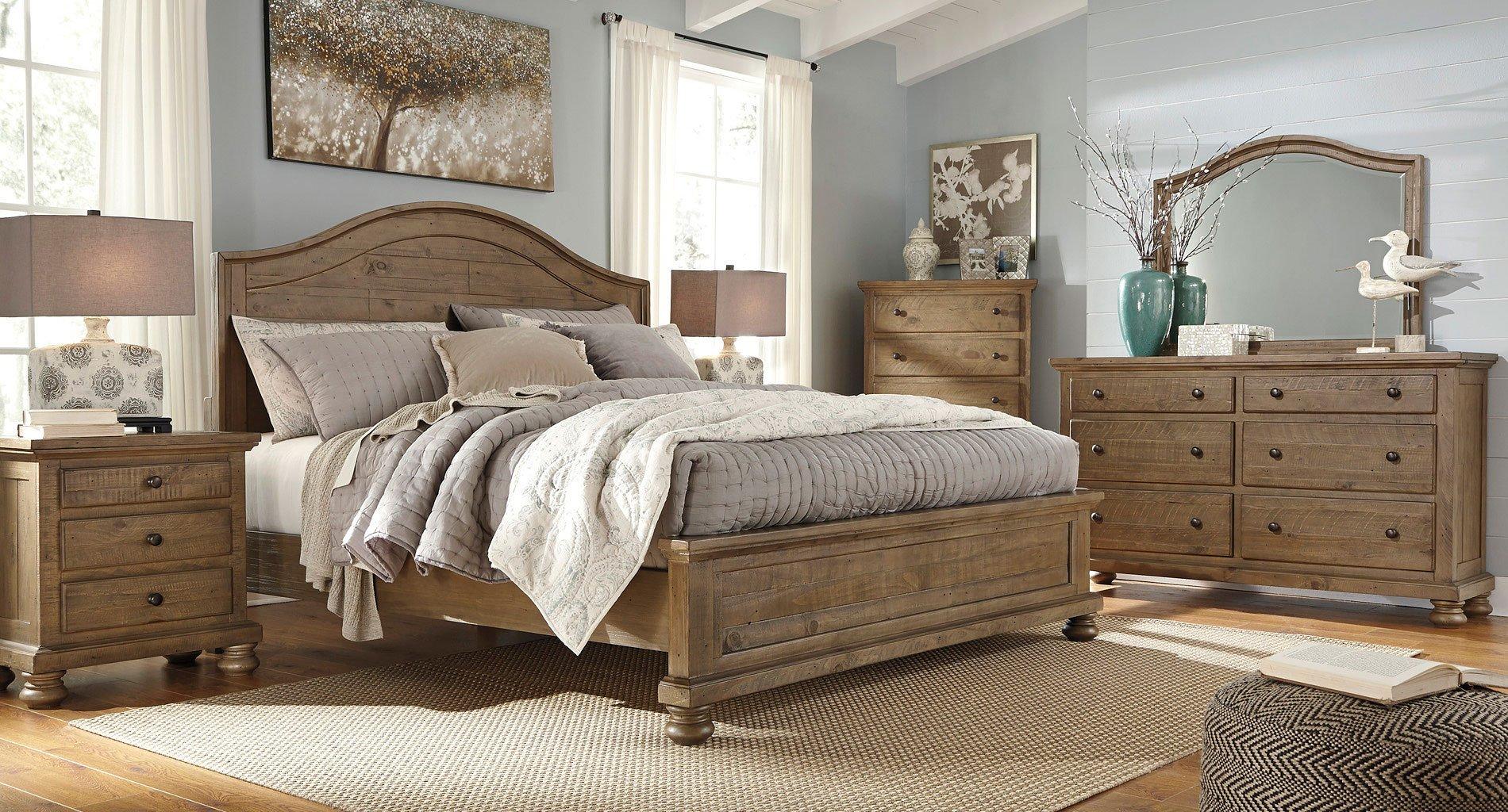 Trishley Panel Bedroom Set Signature Design Furniture Cart