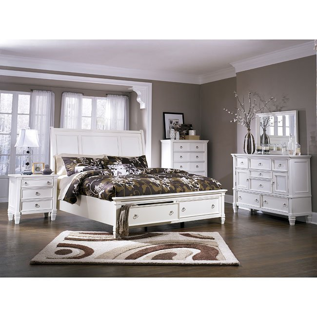 Prentice Sleigh Storage Bedroom Set