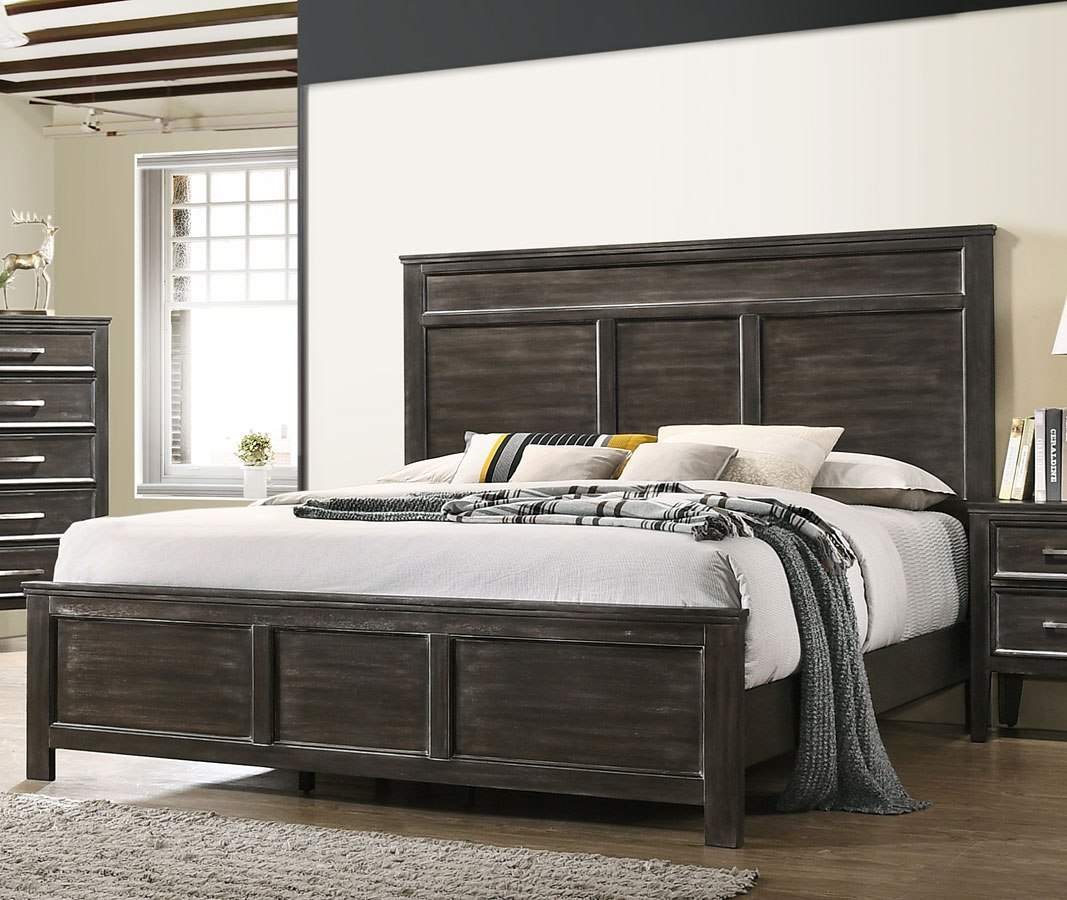 . Andover Panel Bed  Nutmeg