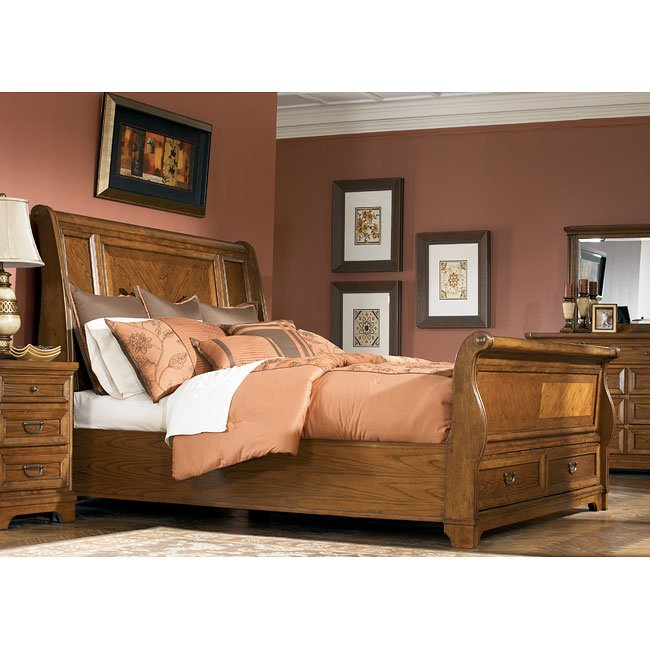 Whitney Hall Sleigh Bed Signature Design Furniture Cart