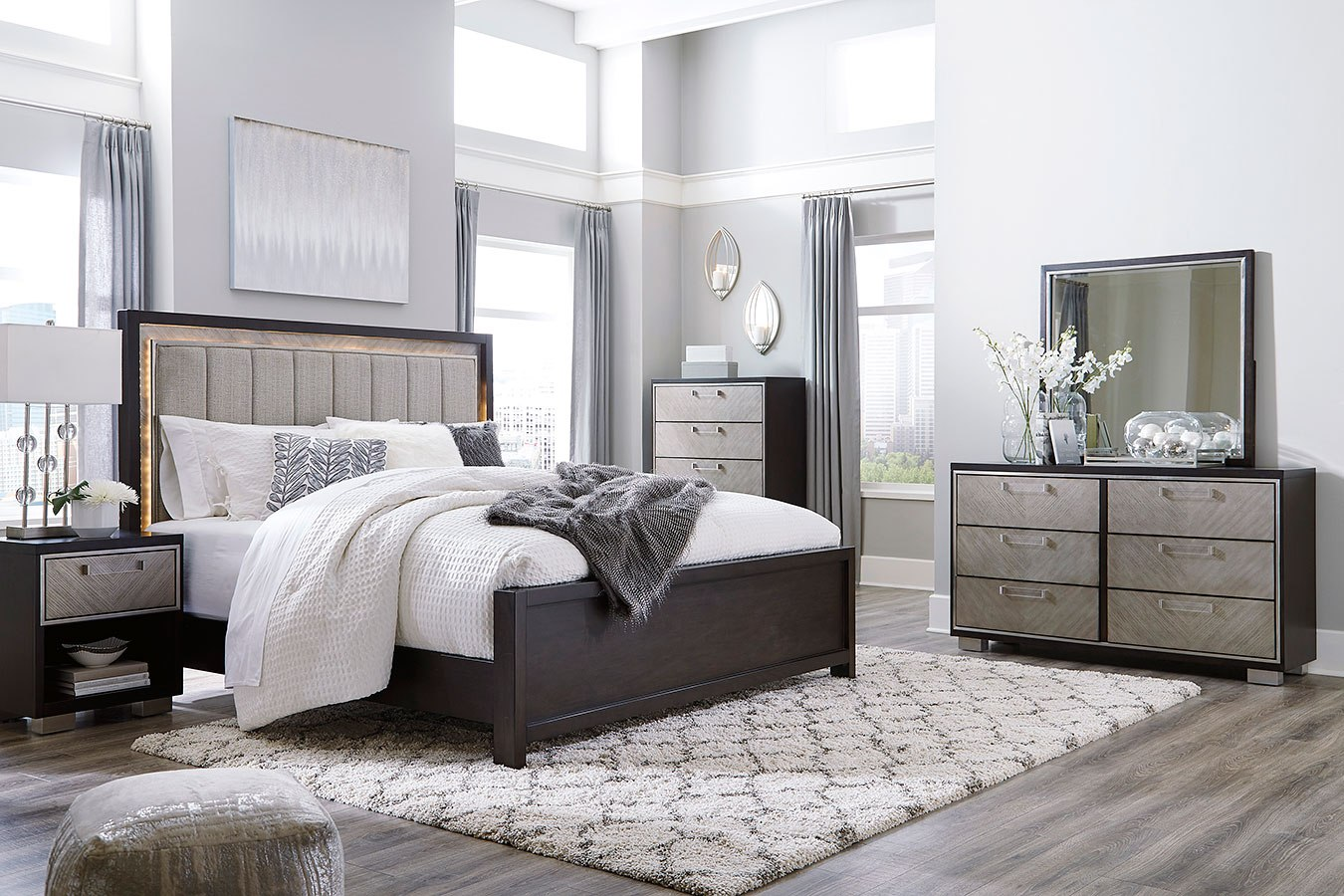 Maretto Panel Bedroom Set Signature Design Furniture Cart