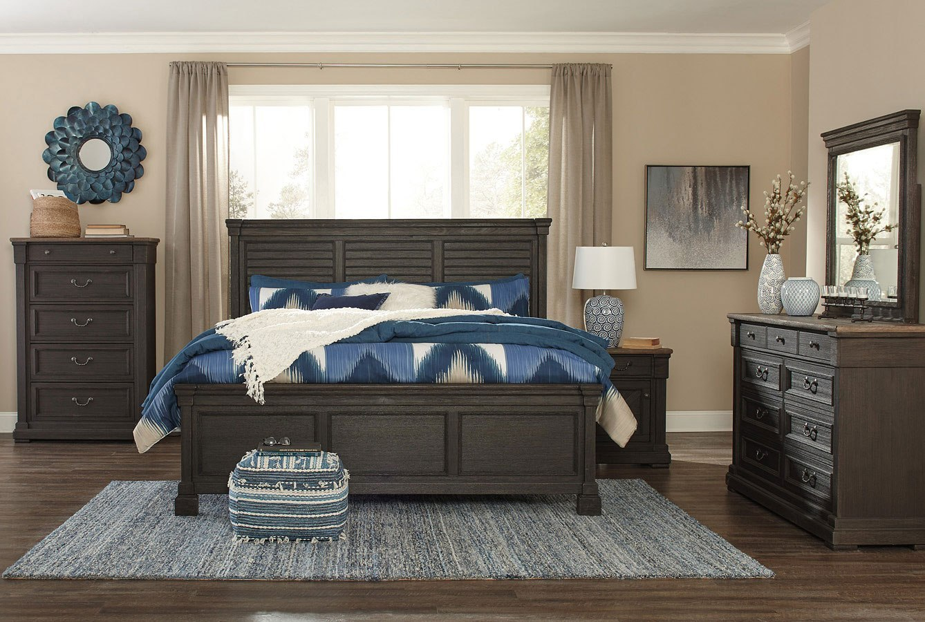 Tyler Creek Louvered Panel Bedroom Set