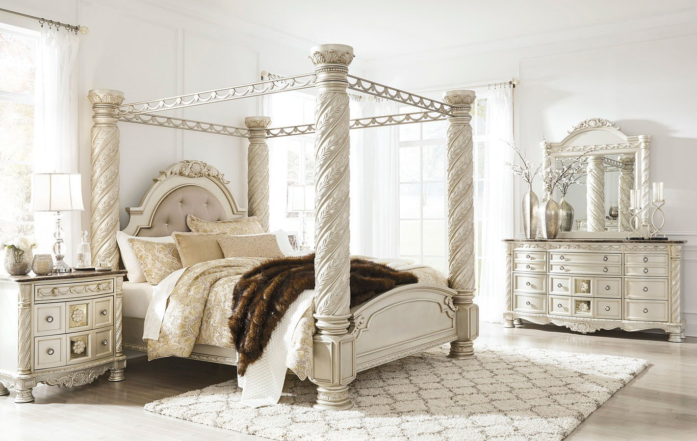 Cassimore Canopy Bedroom Set Signature Design 3 Reviews Furniture Cart