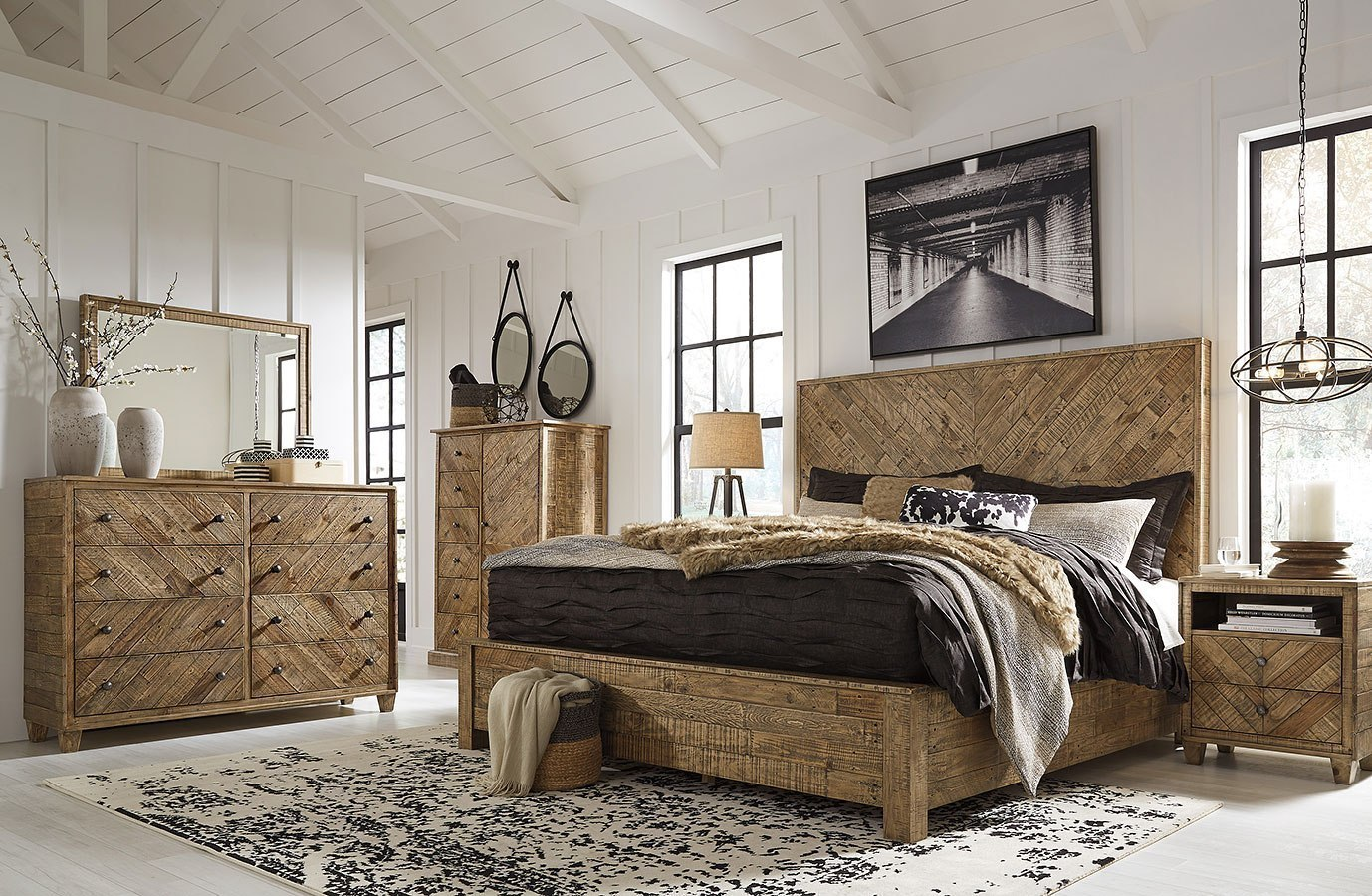 Grindleburg Platform Bedroom Set Signature Design Furniture Cart