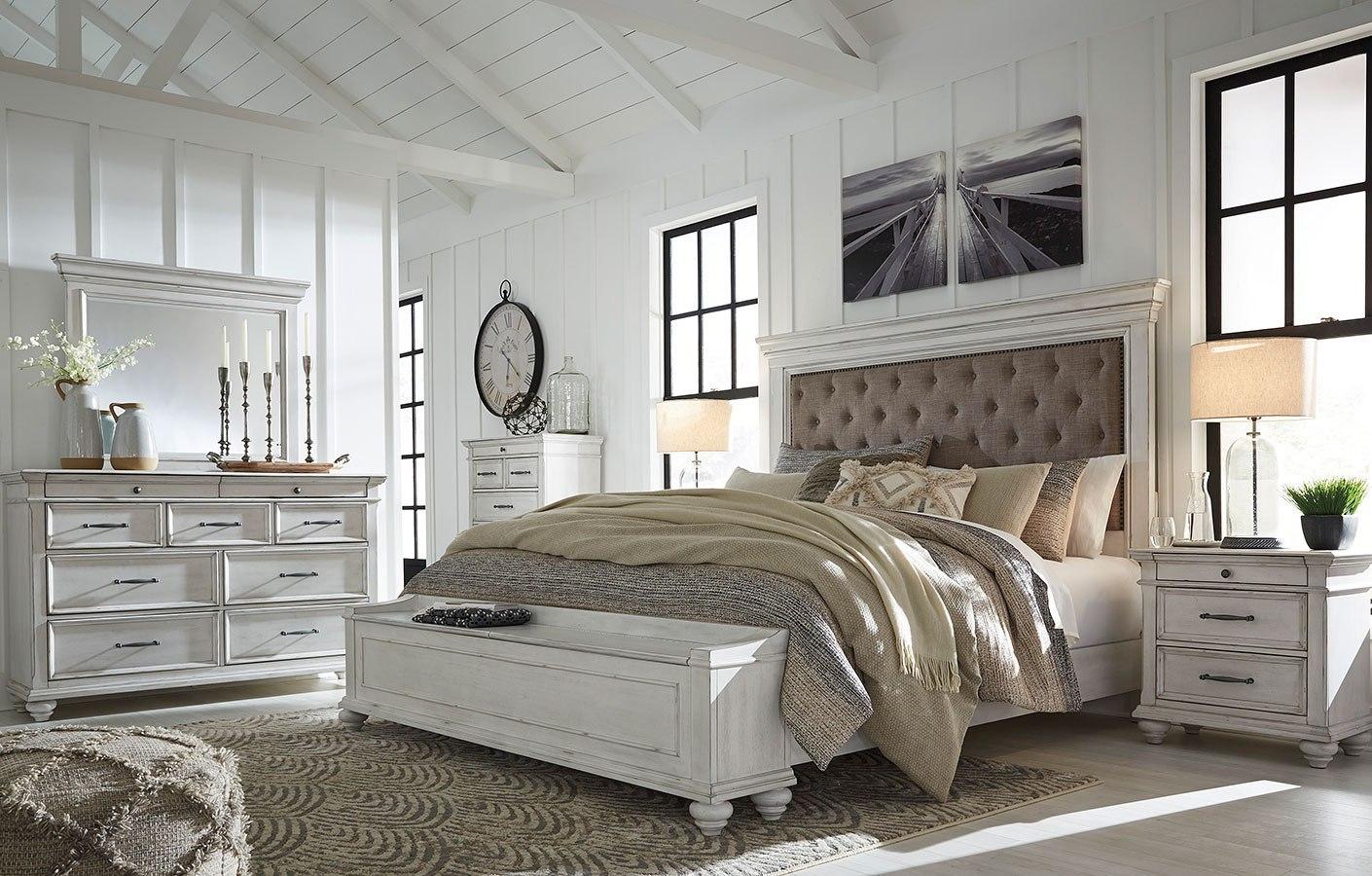 Kanwyn Upholstered Storage Bedroom Set Benchcraft Furniture Cart
