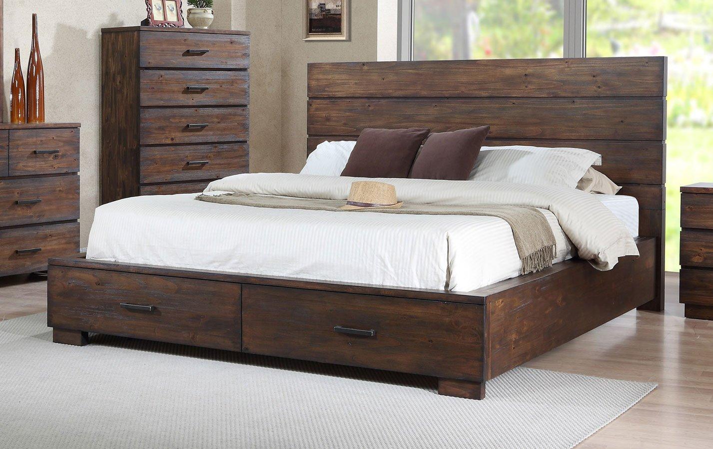 Crown Mark Farrow Queen Bedroom Group: Cranston Storage Bedroom Set Crown Mark Furniture, 1