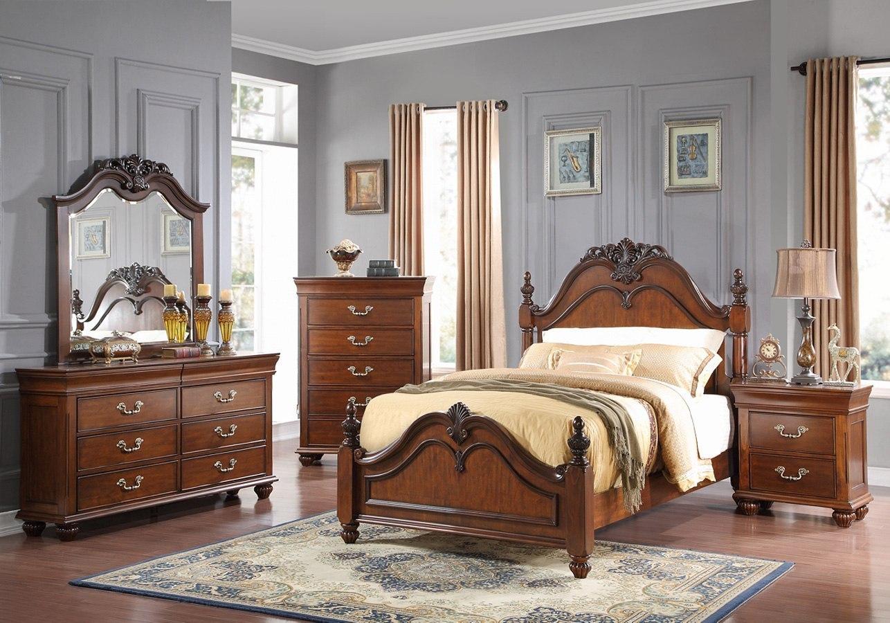 Jaquelyn Poster Bedroom Set (Cherry) New Classic Furniture