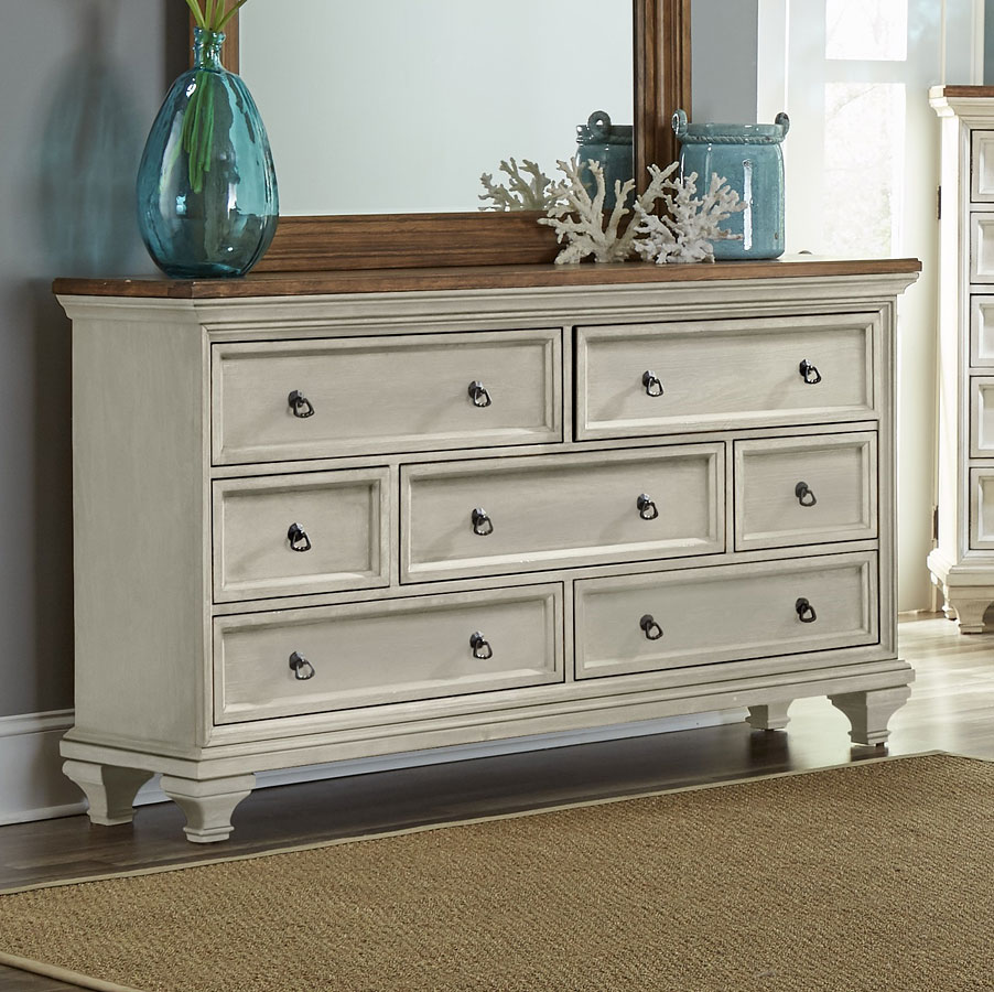 Cancun Dresser (Gray And Pine) By Largo Furniture