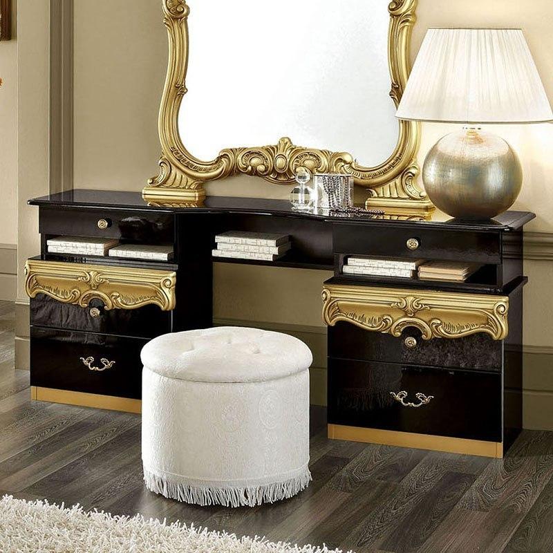 Incroyable Barocco Vanity Dresser (Black And Gold)