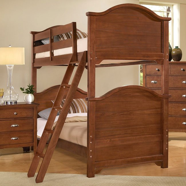 Twilight Twin Over Twin Bunk Bed Cherry Vaughan Bassett
