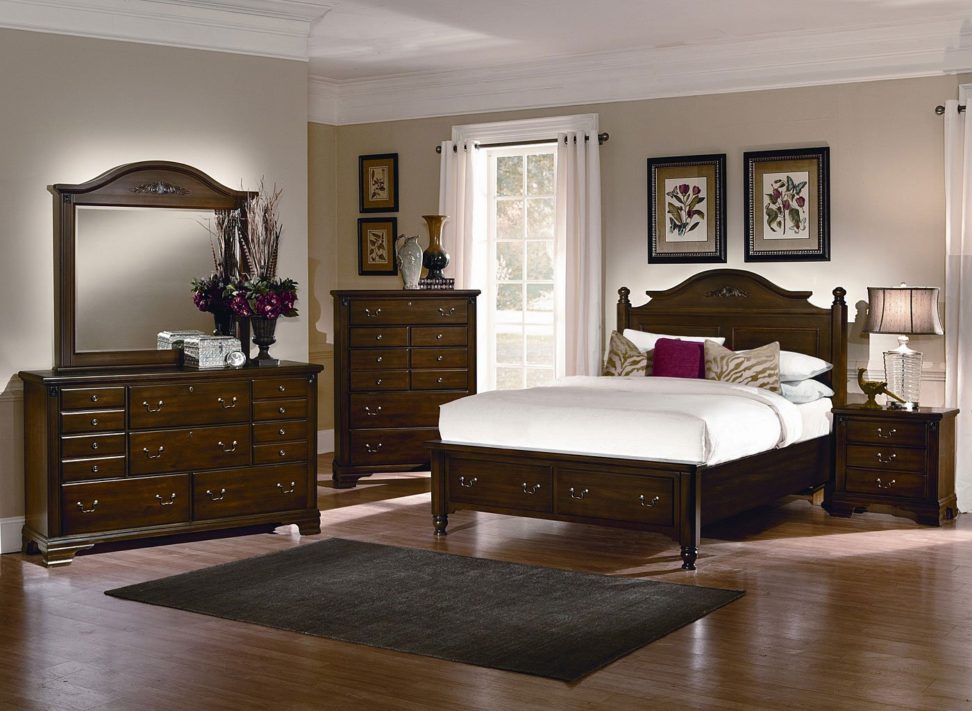 nice Spencer Storage Bedroom Set Part - 9: Spencer Storage Bedroom Set (Cherry)