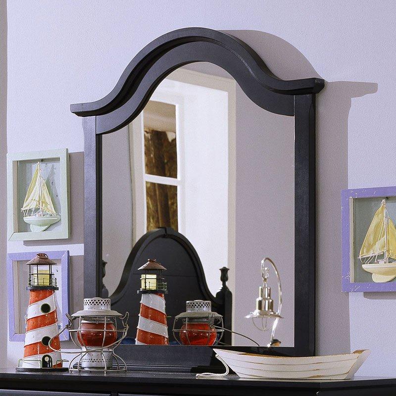 Cottage Slat Poster Bedroom Set (Black) Vaughan Bassett, 1