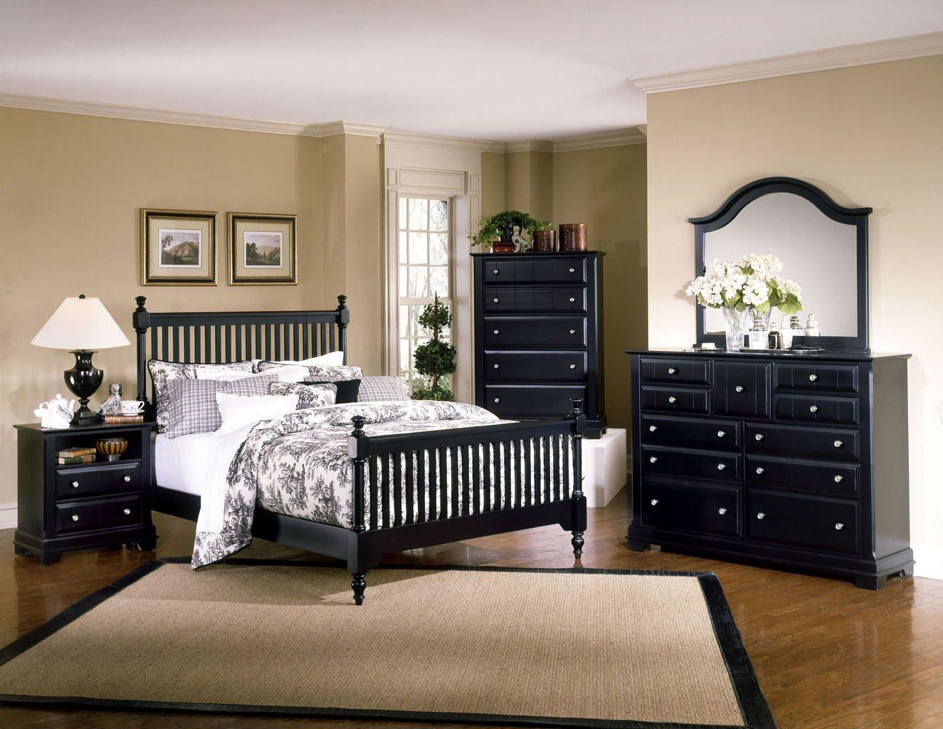Cottage Slat Poster Bedroom Set (Black) Vaughan Bassett, 1 Reviews ...