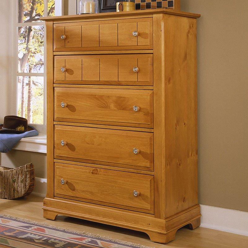 Cottage Panel Bedroom Set (Pine) Vaughan Bassett