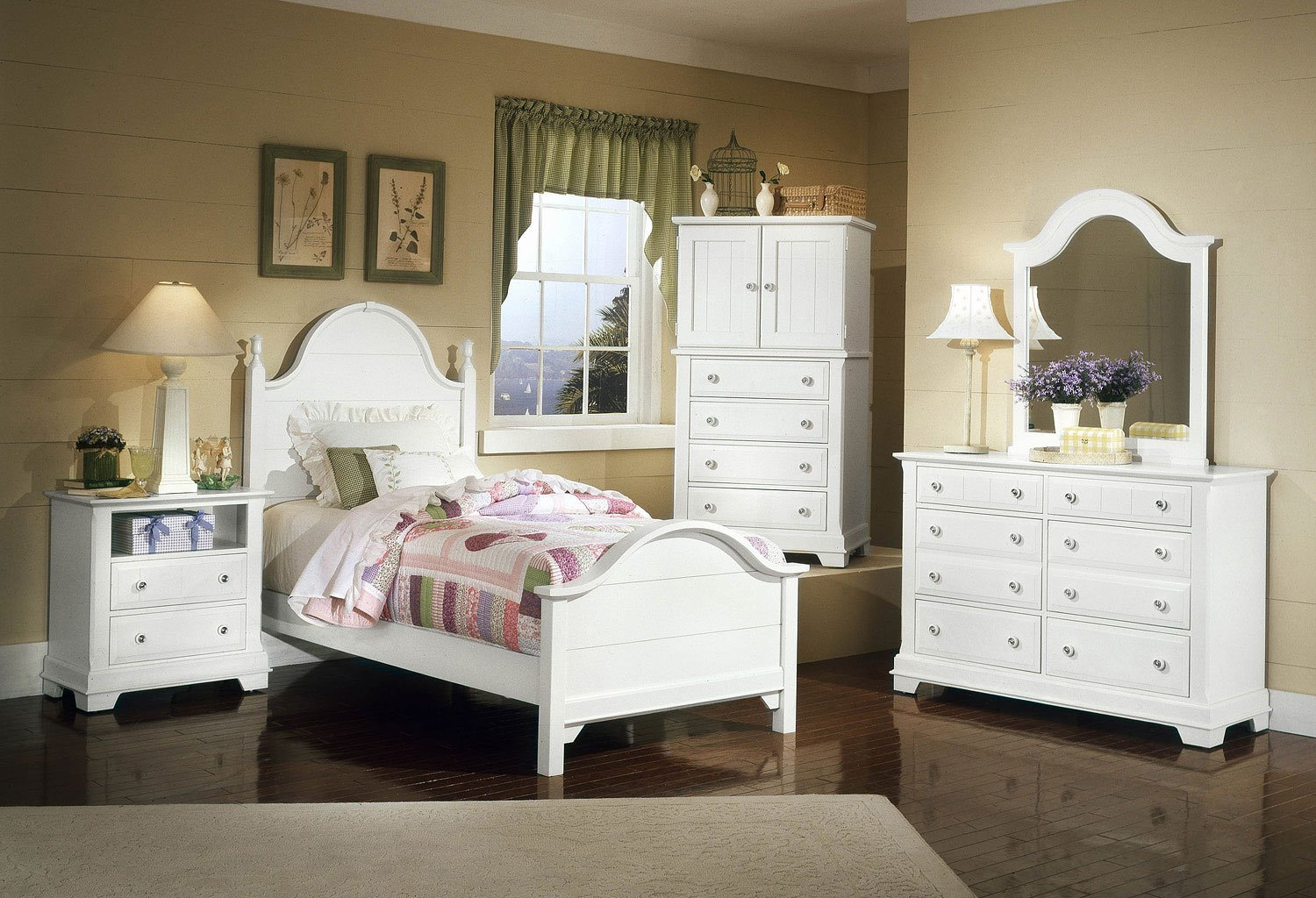 Cottage Youth Panel Bedroom Set (Snow White)