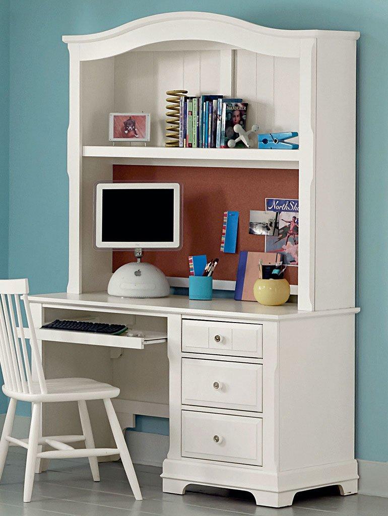 Cottage Computer Desk w/ Hutch (Snow White)