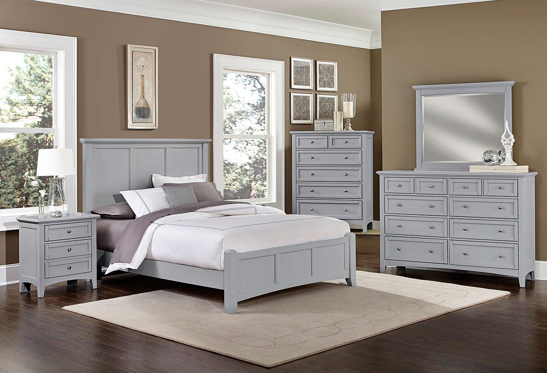 Bonanza Mansion Bedroom Set (Gray)